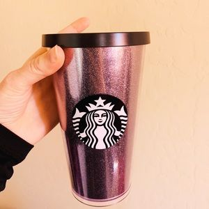 16 oz. Black Sparkly Starbucks cup!